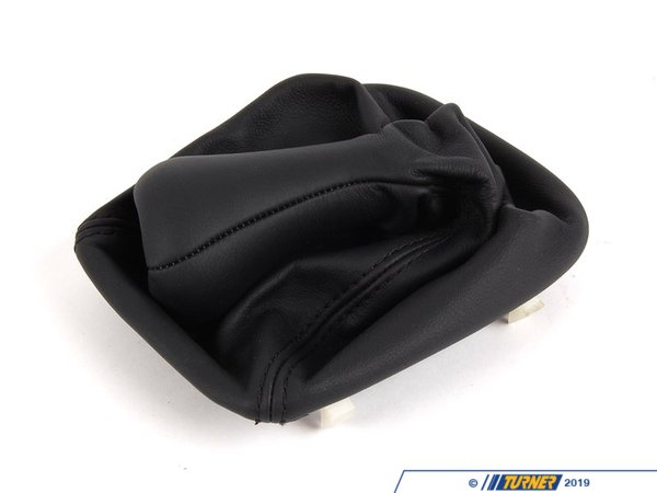 T#12566 - 25111221510 - Genuine BMW Leather Gear Lever Cover Schwarz - 25111221510 - E30 - Genuine BMW -
