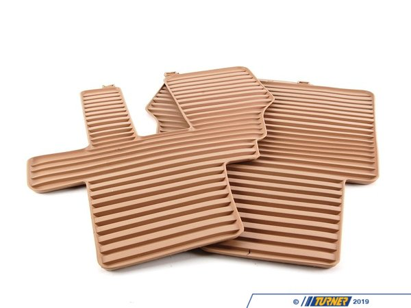 T#109980 - 51470416694 - Genuine BMW Kit Rubber Floor Mats 3rd Se - 51470416694 - Savannabeige - Genuine BMW -