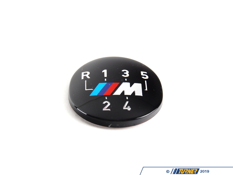 25111221613 Genuine Bmw 5 Speed Shift Knob Emblem With M