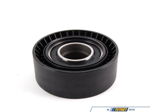 T#2045 - 11281748131 - OEM INA Tensioner Pulley for Main Drive Belt (Water Pump/Alternator/Power Steering) - This is an OEM INAtensioner pulley, also known as the adjusting pulley and lower pulley. This pulley is mounted on the belt tensioner near the center of the belt assembly. The upper and lower pulleys are known to be the primary sources for 'belt squealing'. This pulley is also encased in rubber which will crack over time. If left without service the rubber could fail completely, chucking the belt and leaving you stranded. Replacement is a very simple procedure and can be done anytime the fan is off the engine (belt replacement, water pump service, alternator replacement, etc).This pulley is mounted along with the hydraulic belt tensioner but can be replaced on its own. It is used for the main drive belt on the M50-M54 family engines (M50, M50TU, M52, S52, M52TU, M54, M56, and S54 engines). This is the same belt that covers the water pump/alternator/power steering systems. Replacement is a very easy procedure (requires fan removal) and will have your engine purring in no time. Belt replacement is strongly recommended at the same time. If you have a mechanical belt tensioner, the pulley can only be replaced with a new tensioner.OEM Schaeffler (INA, LuK, & FAG) is an engineering company that focuses on high-performance, precision manufacturing. With their individual brands INA, Luk, and FAG providing exceptionally high quality parts directly to BMW, as well as countless other automotive companies, their history of reliability and variety of offered parts makes Schaeffler a go-to replacement parts provider for all of us here at Turner Motorsport.As a leading source of high performance BMW parts and accessories since 1993, we at Turner Motorsport are honored to be the go-to supplier for tens of thousands of enthusiasts the world over. With over two decades of parts, service, and racing experience under our belt, we provide only quality performance and replacement parts. All of our performance parts are those we would (and do!) install and run on our own cars, as well as replacement parts that are Genuine BMW or from OEM manufacturers. We only offer parts we know you can trust to perform!If you need the hydraulic belt tensioner, click here.This item is 70mm Diameter. Please check the diameter before ordering.This tensioner pulley fits the following BMWs:1991-1995 E34 525i (M50 engine)1992-1999 E36 325i, 325is, 328i, 328is, 323is1995-1999 E36 M3 (M3 3.0 & M3 3.2 liter)1997-2003 E39 525i, 528i, 530i - Only for Hydraulic Tensioner1999-2000 E46 323i, 323Ci, 328i, 328Ci - Only for Hydraulic Tensioner2001-2005 E46 325i, 325Ci, 325xi, 330i, 330Ci, 330xi - Only for Hydraulic Tensioner2001-2006 E46 M3 coupe & convertible - Only for Hydraulic Tensioner2000-2006 X5 3.0 liter (E53 chassis)2004 E60 525i, 530i (M54 engine)1997-2002 Z3 & MZ3 2.5, 2.8, 3.0, M Roadster, M Coupe2003-2009 Z4 M Coupe and Roadster - Ina - BMW