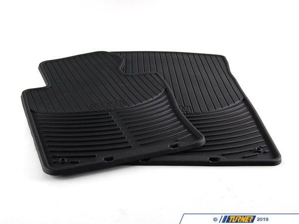 Genuine BMW Genuine BMW Front All Weather Rubber Floor Mat Set - Black - E46 325xi 330xi 82550136372