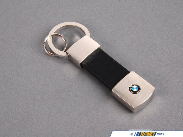 T#11311 - 80230395068 - Genuine BMW Leather Key Ring with Roundel 80230395068 - Genuine BMW -