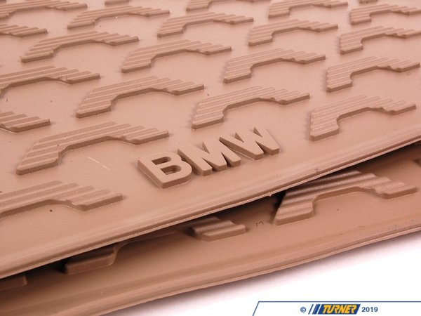 T#110033 - 51470427560 - Genuine BMW Kit Rubber Floor Mats Rear - 51470427560 - Savannabeige - Genuine BMW -