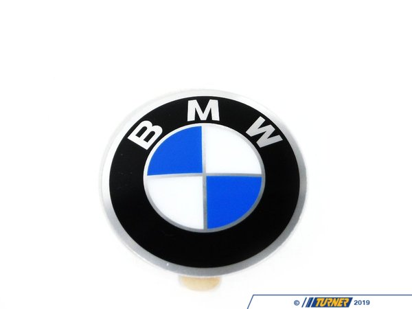 Genuine BMW Wheel Emblem - Adhesive Backed - 45mm - E30, 2002 36131181082