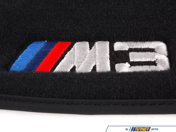 Genuine BMW Genuine BMW ///M3 Carpeted Floor Mat Set - Black 82112293526