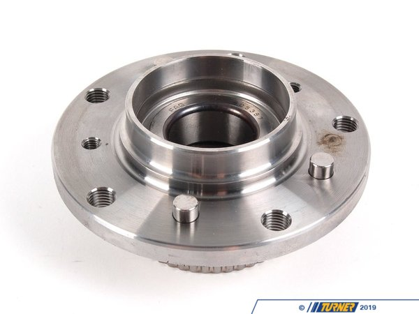 T#3509 - 31222229501 - OEM FAG Front Wheel Bearing Hub Assembly -- E46 M3, Z4 M - E46 M3, Z4 M Front Wheel Hub Assembly with Bearing. This is an OEM Wheel Bearing Hub Assembly made by FAG and meets all of the OE specifications for fitment and life. FAG is an OE supplier to BMW as well as several other German marques. (SKF does not have a front bearing assembly for the E46 M3).When wheel bearing begin to fail you normally will here a squeaking or grinding noise or sometimes feel a slight amount of vibration in the steering wheel. Be sure to replace these asap to prevent possible damage to the hub or steering issues.OEM Schaeffler (INA, LuK, & FAG) is an engineering company that focuses on high-performance, precision manufacturing. With their individual brands INA, Luk, and FAG providing exceptionally high quality parts directly to BMW, as well as countless other automotive companies, their history of reliability and variety of offered parts makes Schaeffler a go-to replacement parts provider for all of us here at Turner Motorsport.As a leading source of high performance BMW parts and accessories since 1993, we at Turner Motorsport are honored to be the go-to supplier for tens of thousands of enthusiasts the world over. With over two decades of parts, service, and racing experience under our belt, we provide only quality performance and replacement parts. All of our performance parts are those we would (and do!) install and run on our own cars, as well as replacement parts that are Genuine BMW or from OEM manufacturers. We only offer parts we know you can trust to perform! - FAG - BMW