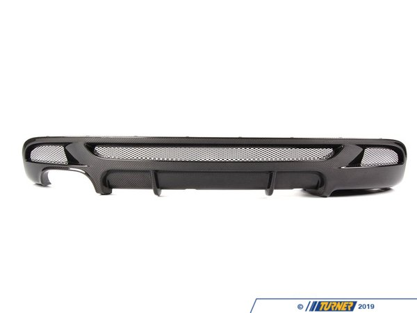 T#1903 - 51120414220 - E82/E88 1 Series Carbon Fiber Rear Apron Diffuser (for Performance/M Rear Bumper) - Genuine BMW - BMW