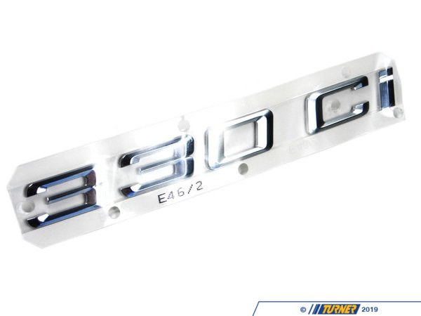T#8858 - 51147000499 - Genuine BMW 330Ci Coupe Trunk Emblem - E46 330Ci - Genuine BMW Emblem Adhered Rear - 330Ci -This item fits the following BMW Chassis:E46 - Genuine BMW - BMW