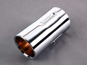 BMW Genuine Exhaust Tailpipe Tip Cover Trim Chrome E46 82129410926