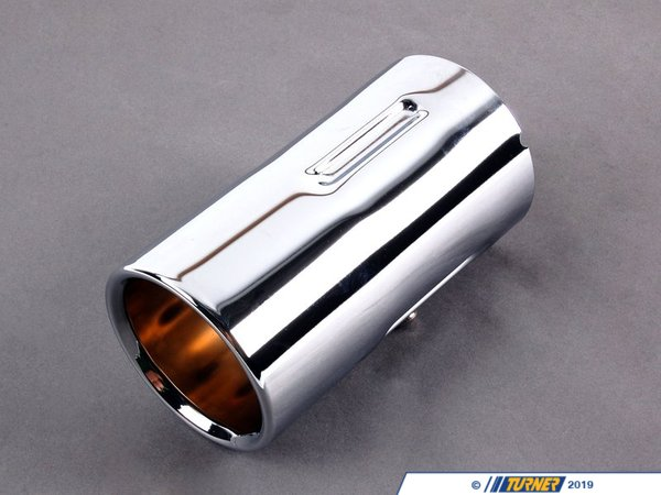 T#11407 - 82120398334 - Genuine BMW Chrome Exhaust Tip - E90 E91 325i/xi, 328i/xi - Genuine BMW - BMW