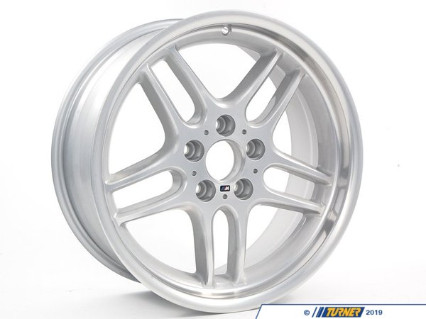 "T#8196 - 36112229635 - Genuine BMW 18"" M Parallel Spoke Style 37 Wheel - E39 525i 528i 530i 540i - Genuine BMW Alloy Rim Forged - 8Jx18 Et:20This item fits the following BMW Chassis:E39 - Genuine BMW - BMW"