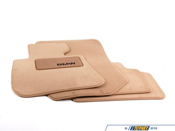 T#11474 - 82112293524 - Genuine BMW Accessories Floor Mat with HEELPAD-BEIGE 82112293524 - Genuine BMW -