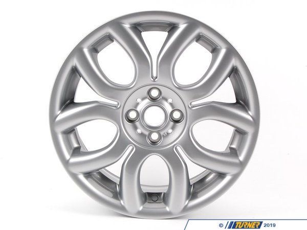 T#66441 - 36116775685 - Genuine MINI Light Alloy Rim, Silver 7Jx17 Et:48 - 36116775685 - Genuine Mini -