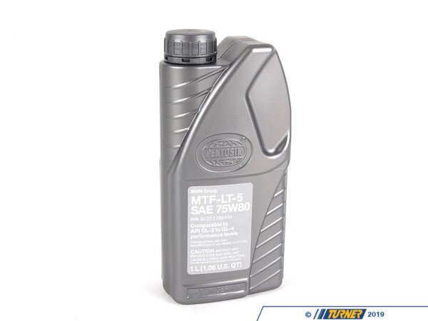 "T#14252 - 83222239654 - Genuine BMW Mtf Lt 5 - ""lifetime"" Transmission Fluid - 1 Liter - Genuine BMW -"