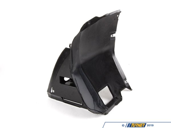 T#10169 - 51718193811 - Spoiler Splash Panel - Left - E46 - This Genuine BMW splash panel provides a transition from the spoiler to the front of the wheel well and has an opening for a brake duct.  This item fits the following BMWs:1999-2005  E46 BMW 323i 323ci 325i 325ci 325xi 328i 328ci 330i 330ci 330xi - Not for cars with M-Technic Aero   - Genuine BMW - BMW