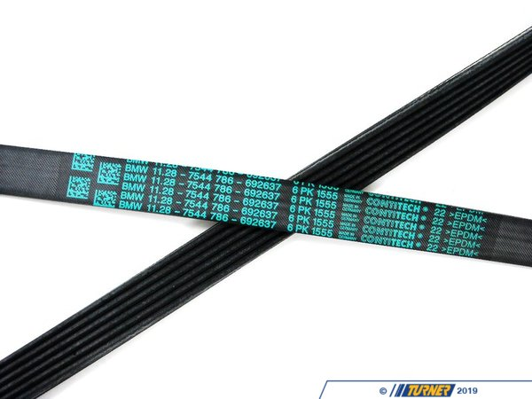 T#6745 - 11287631818 - Belt - Serpentine Belt - E65 745i >10/2003 - Genuine BMW - BMW