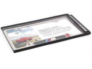 License Plate frame Silver Polished w/ M logo