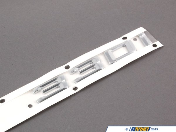 T#23653 - 51147157557 - Genuine BMW Emblem Adhered Rear - 330I - 51147157557 - E90 - Genuine BMW Emblem Adhered Rear - 330I -This item fits the following BMW Chassis:E90 - Genuine BMW -