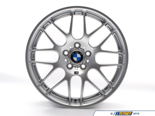"T#12763 - 36112282999 - Genuine BMW E46 M3 M cross spoke 163 Wheel - 9.5""x19"" - 36112282999 - Genuine BMW E46 M3 M cross spoke 163 Wheel ZCP CSL wheel- 9.5""x19"" Weighs 25 pounds.E46 M3 Rear Only.We also offer the full E46 M3 CSL Wheel PackageNote that center caps are not included with the wheels and can be found at part number36136783536 - Genuine BMW - BMW"