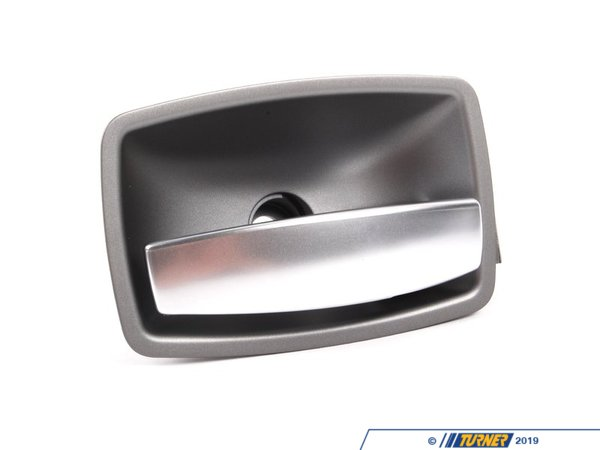 T#96388 - 51417024304 - Genuine BMW Door Handle Inner Right Dark Silver - 51417024304 - E65 - Genuine BMW -