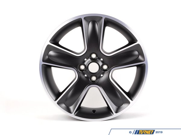 T#66555 - 36116784124 - Genuine MINI Light Alloy Rim, Black 7Jx17 Et:48 - 36116784124 - Genuine Mini -