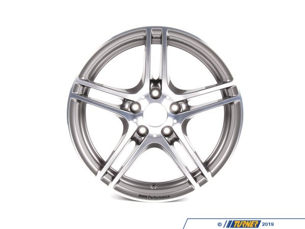 T#5172 - 36116787646 - Genuine BMW Performance Wheel Style 313 - 18x8.5 - E82 128i 135i - Genuine BMW - BMW