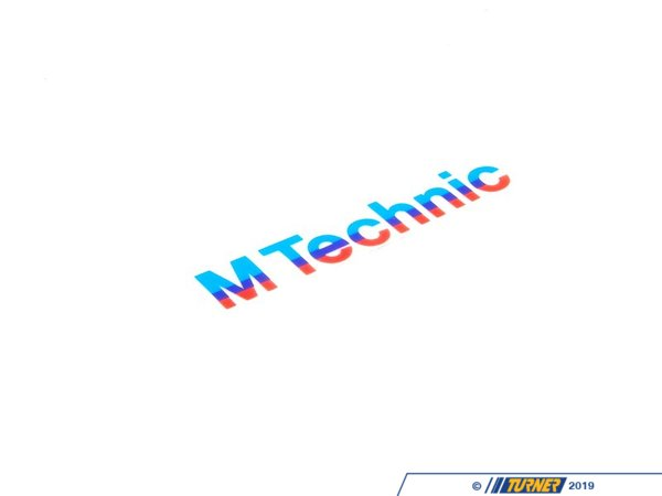 T#8300 - 51111919154 - Genuine BMW Stick-On Label M Technic - 51111919154 - E30 - Genuine BMW Stick-On Label - M TechnicThis item fits the following BMW Chassis:E30 - Genuine BMW -
