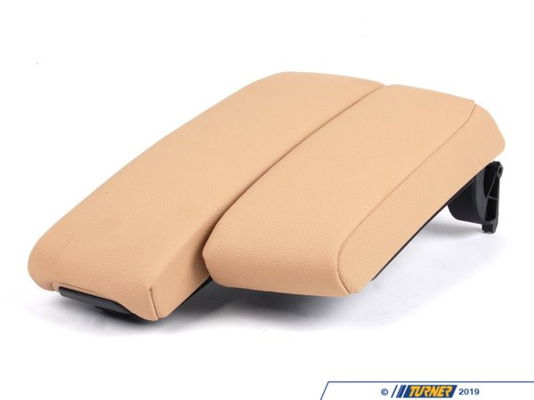 T#82653 - 51166951569 - Genuine BMW Center Arm Rest, Imitation L - 51166951569 - Creambeige - Genuine BMW -