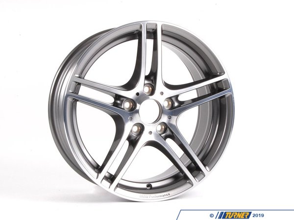 T#5169 - 36116787645 - Genuine BMW Performance Wheel Style 313 - 18x7.5 - E82 128i 135i - Genuine BMW - BMW