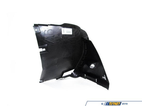 T#10197 - 51718265467 - Spoiler Splash Panel - Left - E46 325xi, 330xi and E46 w Aero Package - This Genuine BMW splash panel provides a transition from the spoiler to the front of the wheel well and has an opening for a brake duct. This item fits the following BMWs:1999-2005  E46 BMW 325xi 330xiOnly for cars with factory Aerodynamic Package option code S716A:1999-2005  E46 BMW 323i 325i 328i 330i  - Genuine BMW - BMW