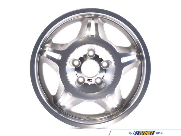 T#65780 - 36112227850 - Genuine BMW Light Alloy Rim Polished - 36112227850 - Genuine BMW -
