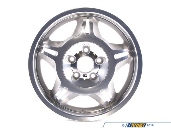T#25244 - 36112227860 - Genuine BMW Light Alloy Rim Polished - 36112227860 - Genuine BMW -