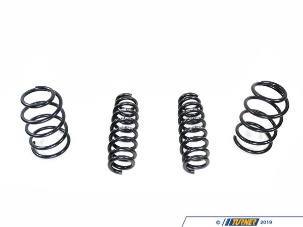 "T#1190 - 50490-3 - H&R Sport Spring Set - E92 335i Coupe -   Front Lowering: -1.3""Rear Lowering: -1.2""Enhance the look of your BMW E92 335i Coupe with a reduced fender well gap. H&R Sport Springs lower the vehicle center of gravity and reduce body roll for better handling. The progressive spring rate design provides superb ride quality and comfort. A lower wind resistance signature will make the vehicle more streamlined and improve gas mileage. If you are only looking to improve one part of your vehicle?s suspension, you cannot go wrong with installing Sport Springs. Fun to drive, H&R Sport Springs are the number one upgrade for your vehicle. We recommend installing Bilstein Sport shocks with these lowering springs.This item fits the following BMWs:2007+  E92 BMW 335i 335is - Coupe - H&R - BMW"