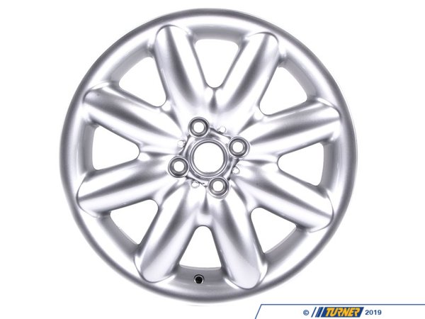 T#13630 - 36116773945 - Genuine MINI Light Alloy Rim, Silver 7X17 Et:48 - 36116773945 - Genuine Mini -