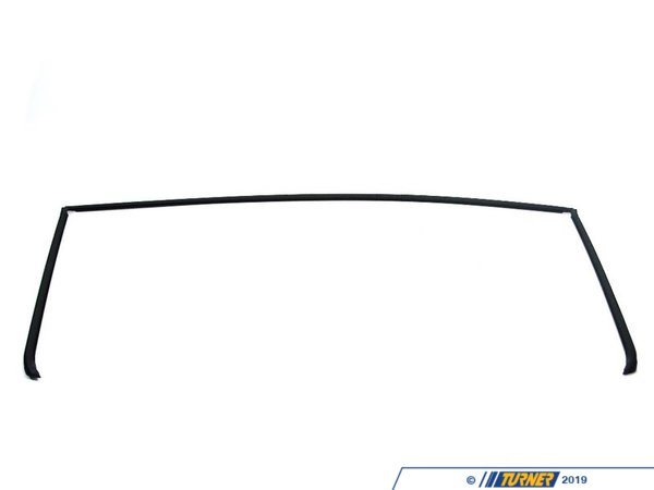 T#9496 - 51311977277 - Rear Windshield Trim Cover - E36 3 series Sedan - This Genuine BMW rear window trim is the black plastic trim that covers the top and sided of the E36 3 series sedan rear window. This molding tends to discolor or fall off the car. This item fits the following BMWs:1992-1998  E36 BMW 318i 325i 328i M3 - 4 door sedan - Genuine BMW - BMW