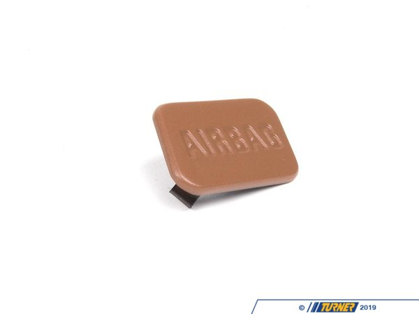 Genuine BMW SRS Airbag Door Emblem - Beige - Right - E36, Z3 51418413218