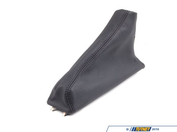 T#20890 - 34412230012 - Genuine BMW Leather Handbrake Lever Cover Schwarz - 34412230012 - E30 - Genuine BMW -