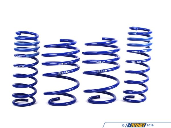 "T#4339 - 29991-1 - H&R Sport Spring Set - E38 740i 740iL - without Self Leveling, without Sport Suspension - Lowers 1.9"" Front and 1.3"" Rear Provides superior ride and maximum loweringEnhance the look of your BMW E38 740i/il with a reduced fender well gap. H&R Sport Springs lower the vehicle center of gravity and reduce body roll for better handling. The progressive spring rate design provides superb ride quality and comfort. A lower wind resistance signature will make the vehicle more streamlined and improve gas mileage. If you are only looking to improve one part of your vehicles suspension, you cannot go wrong with installing Sport Springs. Fun to drive, H&R Sport Springs are the number one upgrade for your vehicle.This item fits the following BMWs:1995-2001  E38 BMW 740i 740il - without  Self Leveling, without Sport Suspension - H&R - BMW"