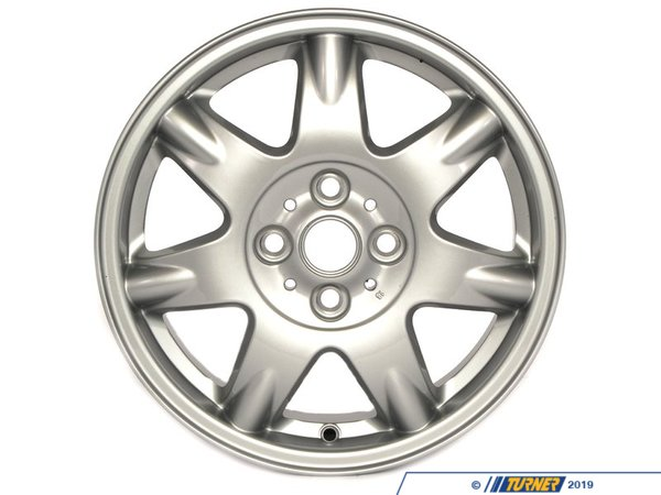 T#66215 - 36116768972 - Genuine MINI Light Alloy Rim, Silver 51/2Jx15 Et:45 - 36116768972 - Genuine Mini -