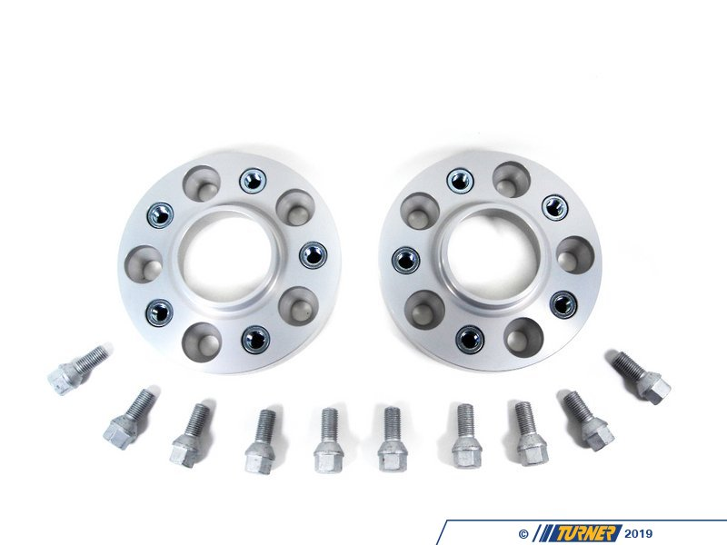T#3529 - 5075725 - H&R 25mm Bolt-On Wheel Spacers for most BMW 5-Lug (Pair) - H&R - BMW