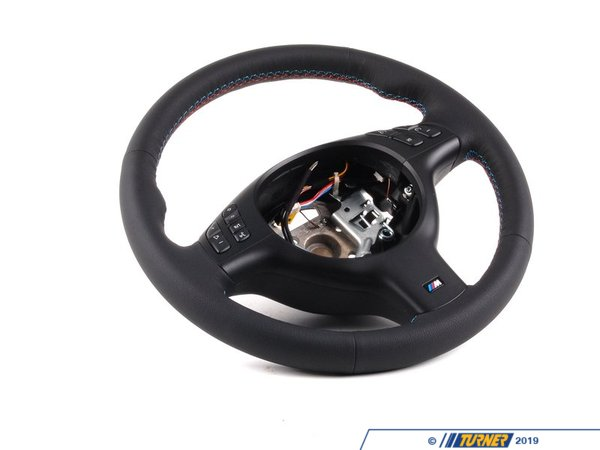 T#2167 - 32342282020 - E46 M3 Steering Wheel (Fits All E46 w/ Round Sport Airbag) - Genuine BMW - BMW