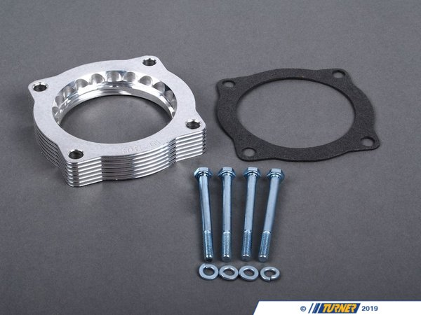 T#2643 - 46-31002 - aFe Throttle Body Spacer - E9X 335i, E82 135i, E60 535i (N54 engine) - Silver Bullet throttle body spacers create turbulence in the air flow at the point just prior entry into the engine increasing horsepower, torque and improving throttle response and fuel efficiency - +6 hp, +3.5 lbs/ft torque.   Silver Bullet throttle body spacers are constructed out of durable T-6061 billet aluminum and using a unique serrated/helix entry to create turbulence at the manifold while eliminating the annoying whistle found in other helix only throttle spacers.  This throttle body spacer is 50-state legal (CARB E.O Number D-516-2).Only for cars with N54 engine.   Not for cars with N55 engine.This throttle body spacer fits the following BMWs:2008-2010  E82 BMW 135i2010+  E82 BMW 1M Coupe2006-2010  E90 BMW 335i 335xi 335i xDrive- Sedan2007-2010  E92 BMW 335i 335is 335xi 335i xDrive - Coupe2007-2010  E93 BMW 335i - Convertible2004-2010  E60 BMW 535i 535xi 535i xDrive  - AFE - BMW