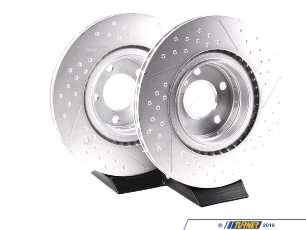 T#341208 - 34206797598KT - Rear M Sport Dimpled Brake Rotors (345x24)(Pair) - F22 228, F30 328i/328iX, F32 428i/428iX (M Sport S2NHA) - Genuine BMW - BMW