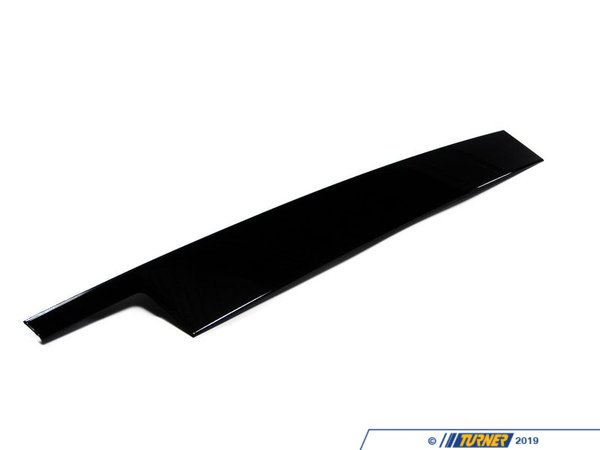 T#93411 - 51337906907 - Genuine BMW Finisher Window Frame B-pill - 51337906907 - Gloss Black - Genuine BMW -