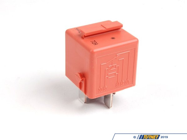 T#5390 - 12631742690 - Relay - 5 prong - Salmon Colored - This relay is used for the SMG system on the E46 M3 and various applications including secondary air systems on other BMW's. If you find that your SMG-equipped E46 M3 is not starting, this is one of the first places to check as it controls power to the hydraulic unit (the car will not start without hydraulics). Buy one to fix the issue and buy a second so you're not stranded in the future!! You may also want to pick up the green fuel system relay as a spare too (see below).When doing any sort of repair or maintenance there is no replacement for genuine factory parts. Turner Motorsport carries the Genuine BMW brand with pride and has the parts you need to complete your next project with confidence.This item fits the following BMWs:1996-1998  E36 BMW 318i 318is 318ti 318ic 323is 323ic 328i 328is 328ic M31999-2005  E46 BMW 323i 323ci 325i 325ci 325xi 328i 328ci 330i 330ci 330xi M32006-3/2007  E90 BMW 325i 325xi 328i 328xi 330i 330xi 335i 335xi M3 - Sedan2007-3/2007  E92 BMW 328i 328xi 328i xDrive 335i 335is 335xi 335i xDrive M3 - Coupe2007-3/2007  E93 BMW 328i 335i M3 - Convertible1997-2003  E39 BMW 528i 540i M52004-2007  E60 BMW 525i 525xi 530i 530xi 545i 550i M52004-2011  E63 BMW 645ci 650i M61995-2001  E38 BMW 740i 740il 750il2002-2008  E65 BMW 745i 745li 750i 750li 760i 760li2000-2006  E53 BMW X5 3.0i X5 4.4i X5 4.6is X5 4.8is1997-2002  Z3 BMW Z3 1.9 Z3 2.3 Z3 2.5i Z3 2.8 Z3 3.0i M Roadster M Coupe2006-2008  Z4 BMW Z4 M Roadster M Coupe - Genuine BMW - BMW