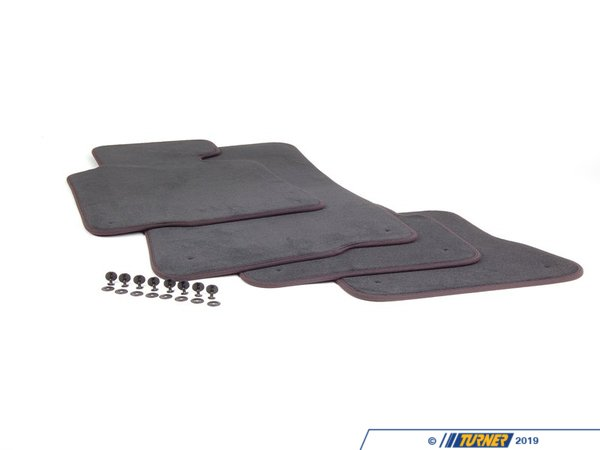 T#111179 - 51477007313 - Genuine BMW Set Of Floor Mats Velours Anthrazit - 51477007313 - E46 - Genuine BMW -