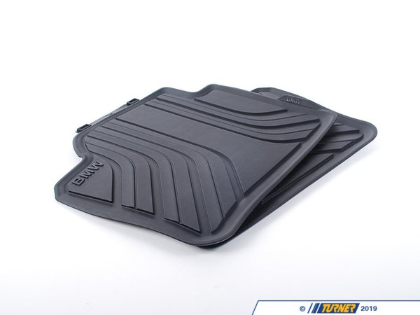 T#24084 - 51472219802 - Genuine BMW Floor Mats, All-weather, Rear - 51472219802 - Genuine BMW -