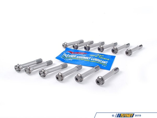 T#3315 - 201-6303 - ARP Connecting Rod Bolt Kit for E46 328i 330i with 47mm Rod Bolt - Set of 12 ProSeries connecting rod bolts, made by ARP -- the world leader in fastener technology. Each bolt is made of ARP2000 material, which exceeds the strength of 8740 Chrome Moly, and is able to achieve clamp load at 220,000psi. ARP2000 fasteners are used widely in motorsport and drag racing as an upgrade from 8740 Chrome Moly in both steel and aluminum rods. These are simply the best connecting rod bolts available, making them ideal for ultra high performance, racing and forced induction applications.This set replaces the 47mm length factory BMW rod bolts with part number 11-24-7-589-671 (11247589671) Check applications before ordering! Opened ARP bolt kits are notreturnable.ARP is a company that prides itself on performance and durability, no matter the application. Offering the finest engine hardware money can buy is the driving initiative at ARP and this is evidenced by the staggering amount of satisfied customers and race teams the world over.This item fits the following BMWs:1999-2005  E46 BMW 328i 328ci 330i 330ci 330xi2001-2003  E39 BMW 530i2004-2005  E60 BMW 530i2004-2006  E83 BMW X3 3.0i2000-2006  E53 BMW X5 3.0i1997-2002  Z3 BMW Z3 3.0i2003-2005  Z4 BMW Z4 3.0i - ARP - BMW