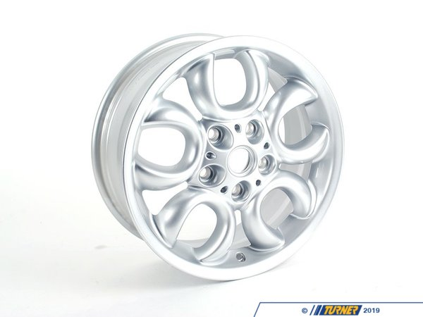T#64887 - 36109803725 - Genuine MINI Light Alloy Rim, Silver 61/2Jx16 Et:46 - 36109803725 - Genuine Mini -