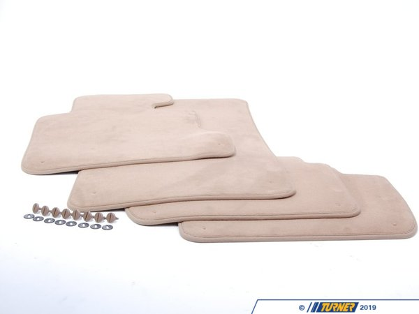 T#113390 - 51478266754 - Genuine BMW Set Of Floor Mats Velours Beige - 51478266754 - E46 - Genuine BMW -